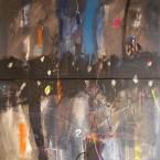 Juegos de Noche   140x140cm  a s tela Díptico