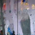 Desierto Muro  a s tela 120x240cm díptico