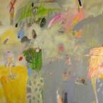 Primavera Llueve a s tela 120x150cm