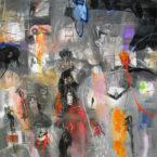 Primavera en Sagitario a s tela 150x150cm